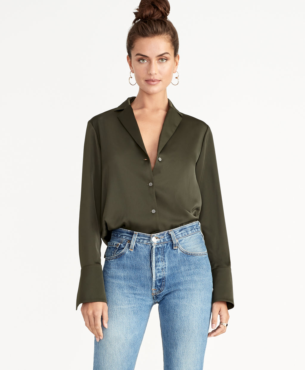 FLO BLOUSE | DARK SAGE