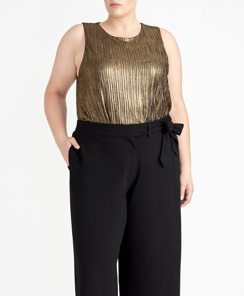 METALLIC PLEATED TANK