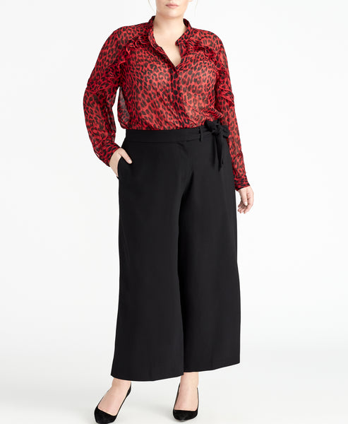 Ruby Leopard Blouse