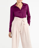 PIPED BLOUSE | VICTORIAN VIOLET