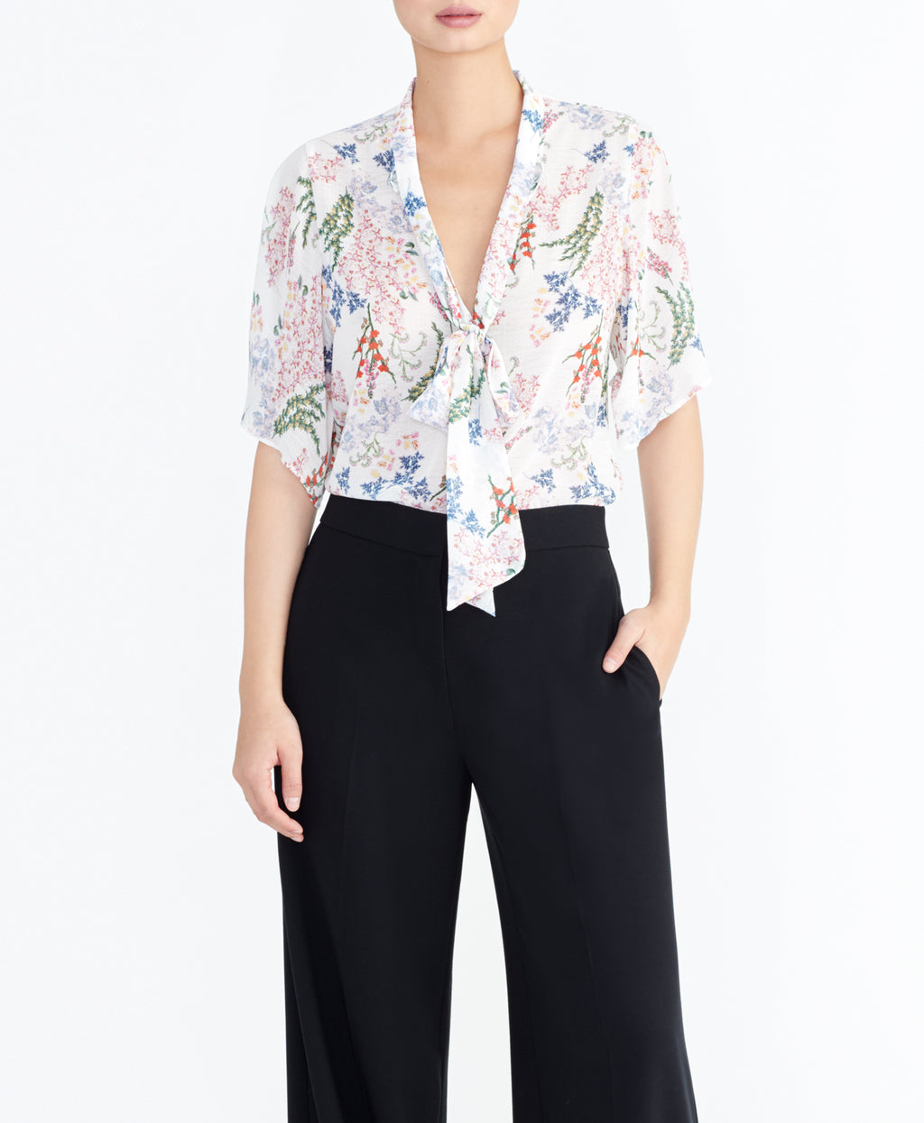 FLORAL BOW BLOUSE | FLORAL BOW BLOUSE
