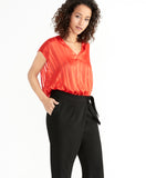 SHELLY TIE WAIST PANT | BLACK