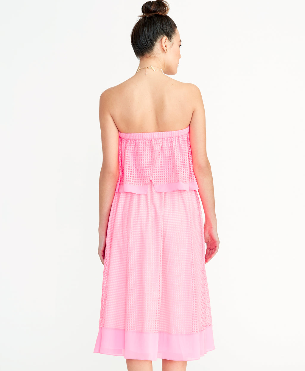Ilia Grid Skirt | Neon Flamingo