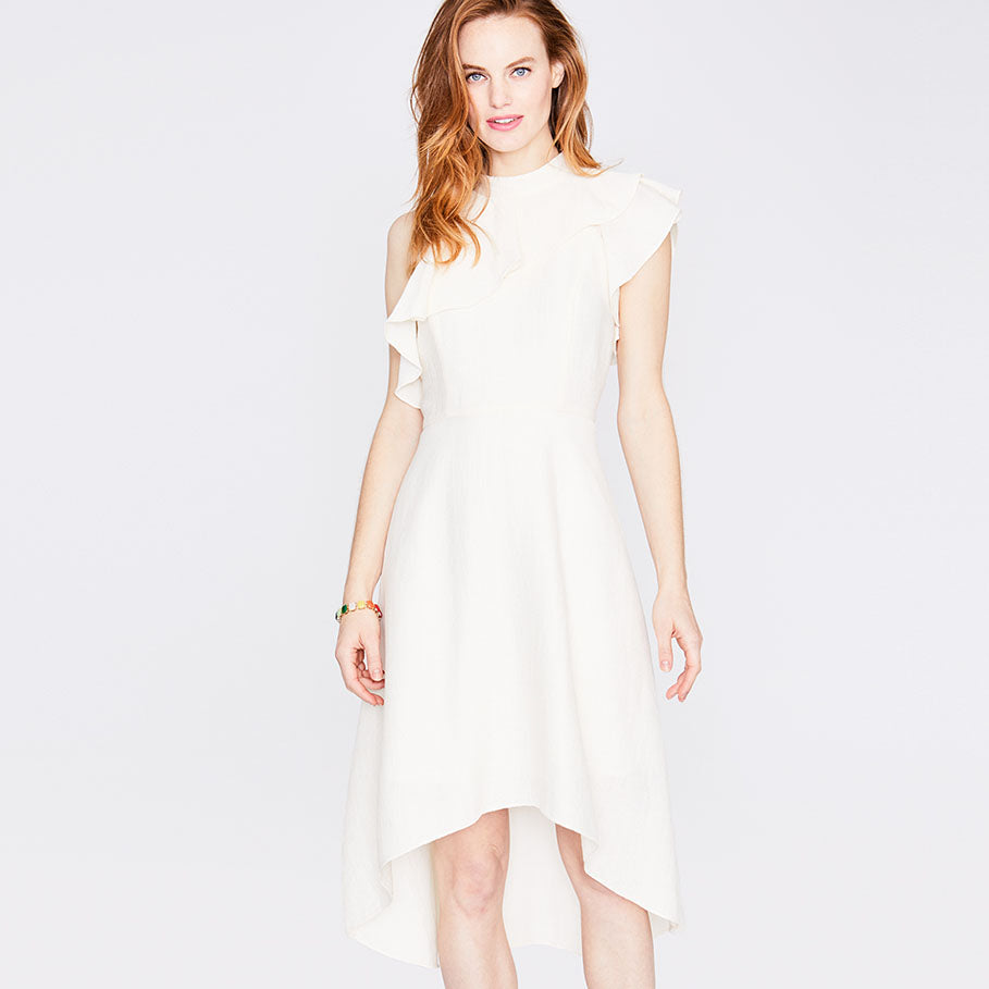Cosmic Ruffle Dress | Natural