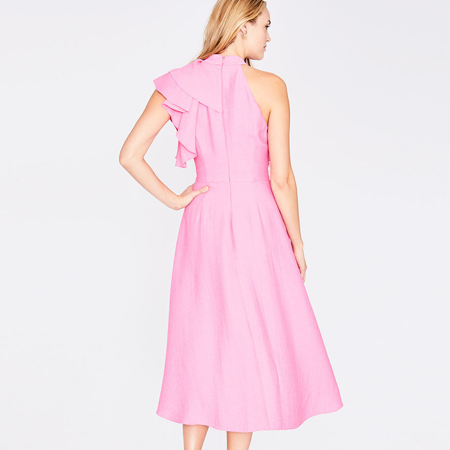 Cosmic Ruffle Dress | Cosmic Pink