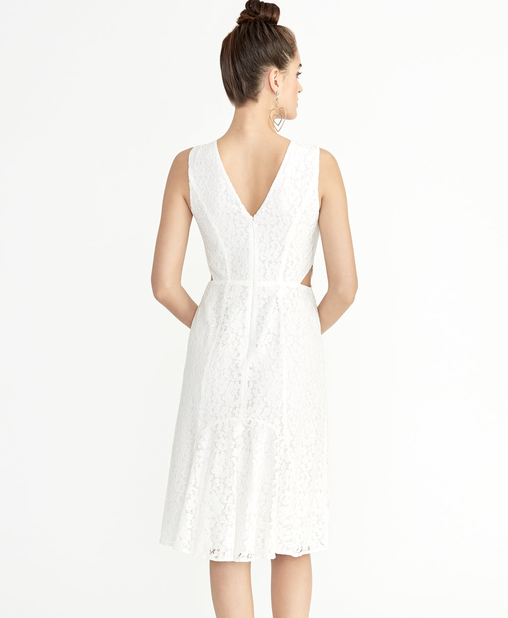 Elana Lace Dress | Eggshell
