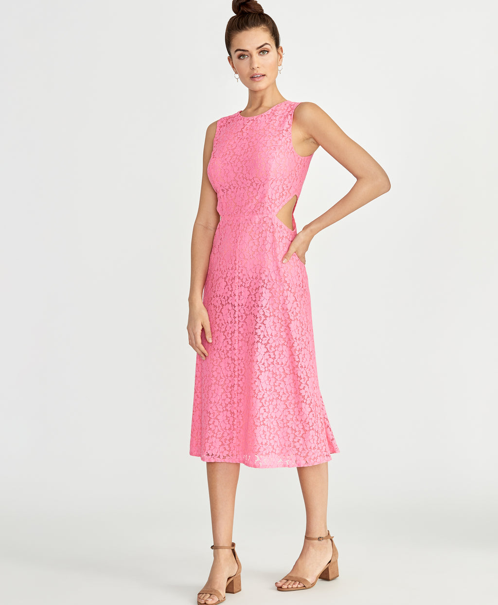 Elana Lace Dress | Neon Flamingo