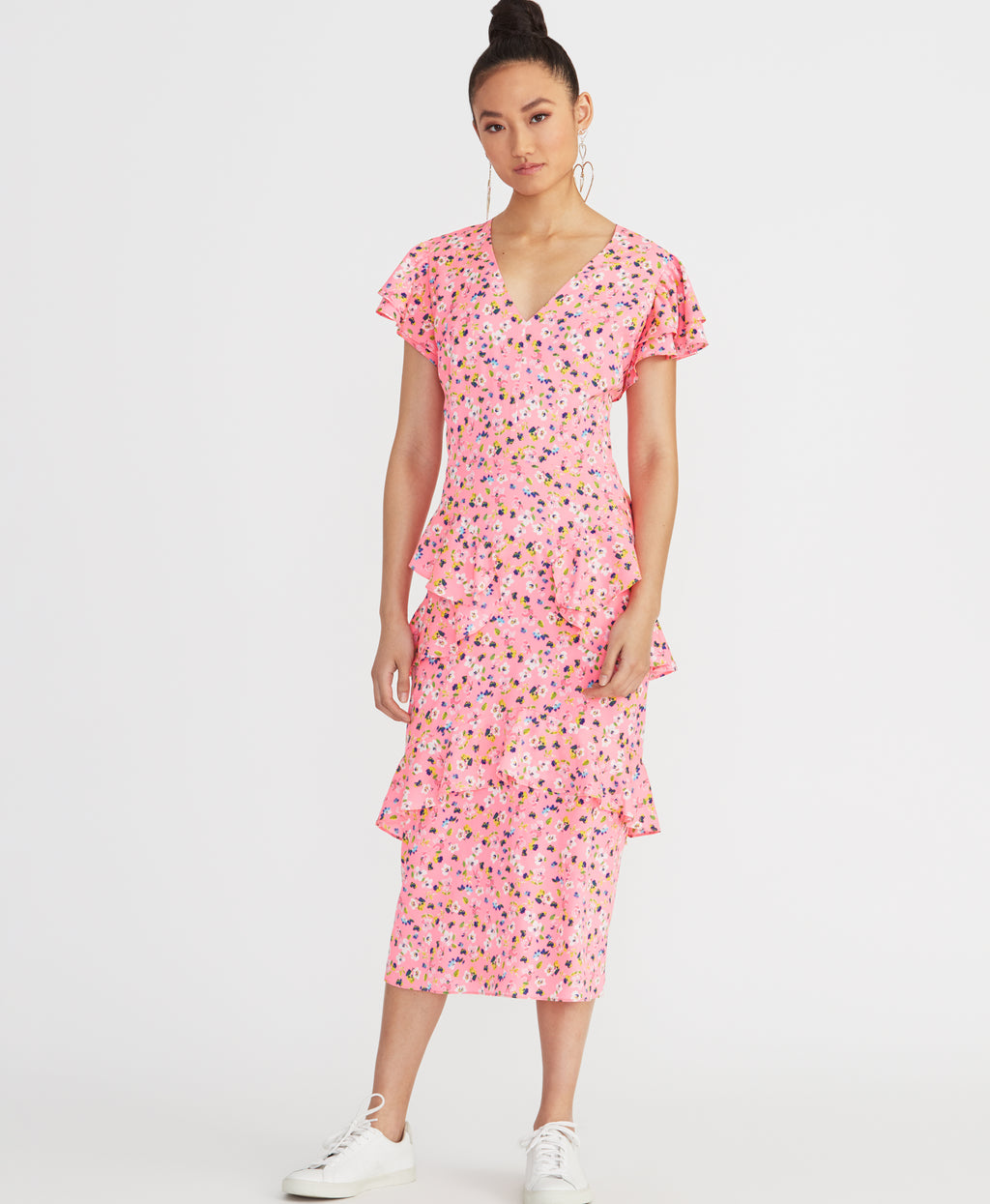Fabianne Dress | Pink Floral Combo