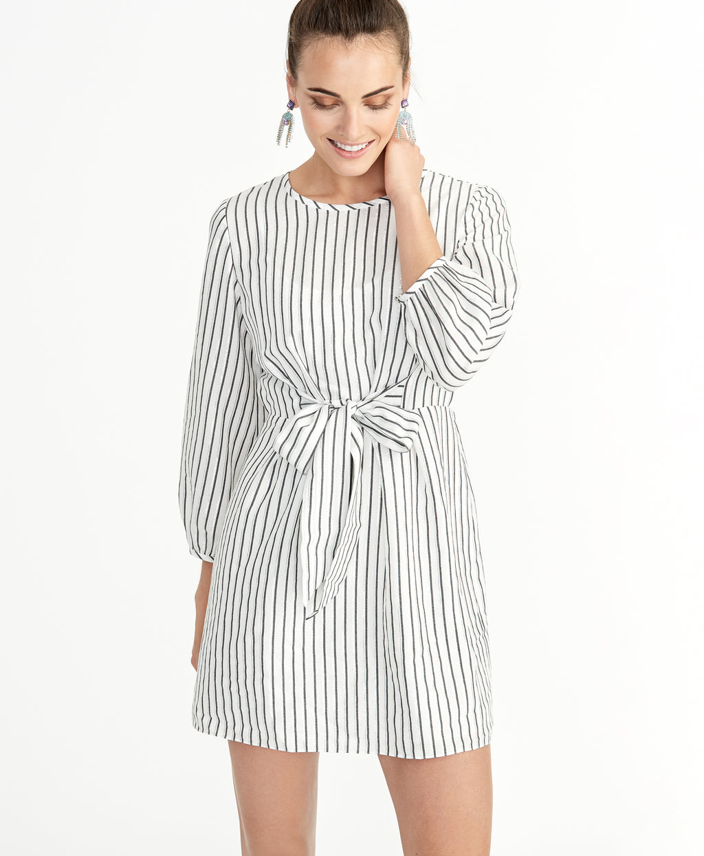 SOPHIA TIE FRONT DRESS | SOPHIA TIE FRONT DRESS