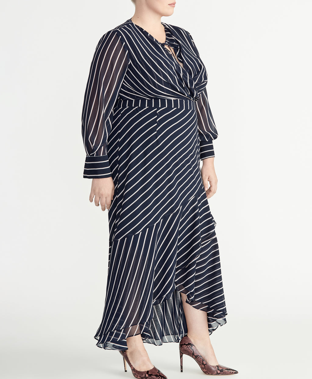 STRIPE PRINT DRESS | STRIPE PRINT DRESS