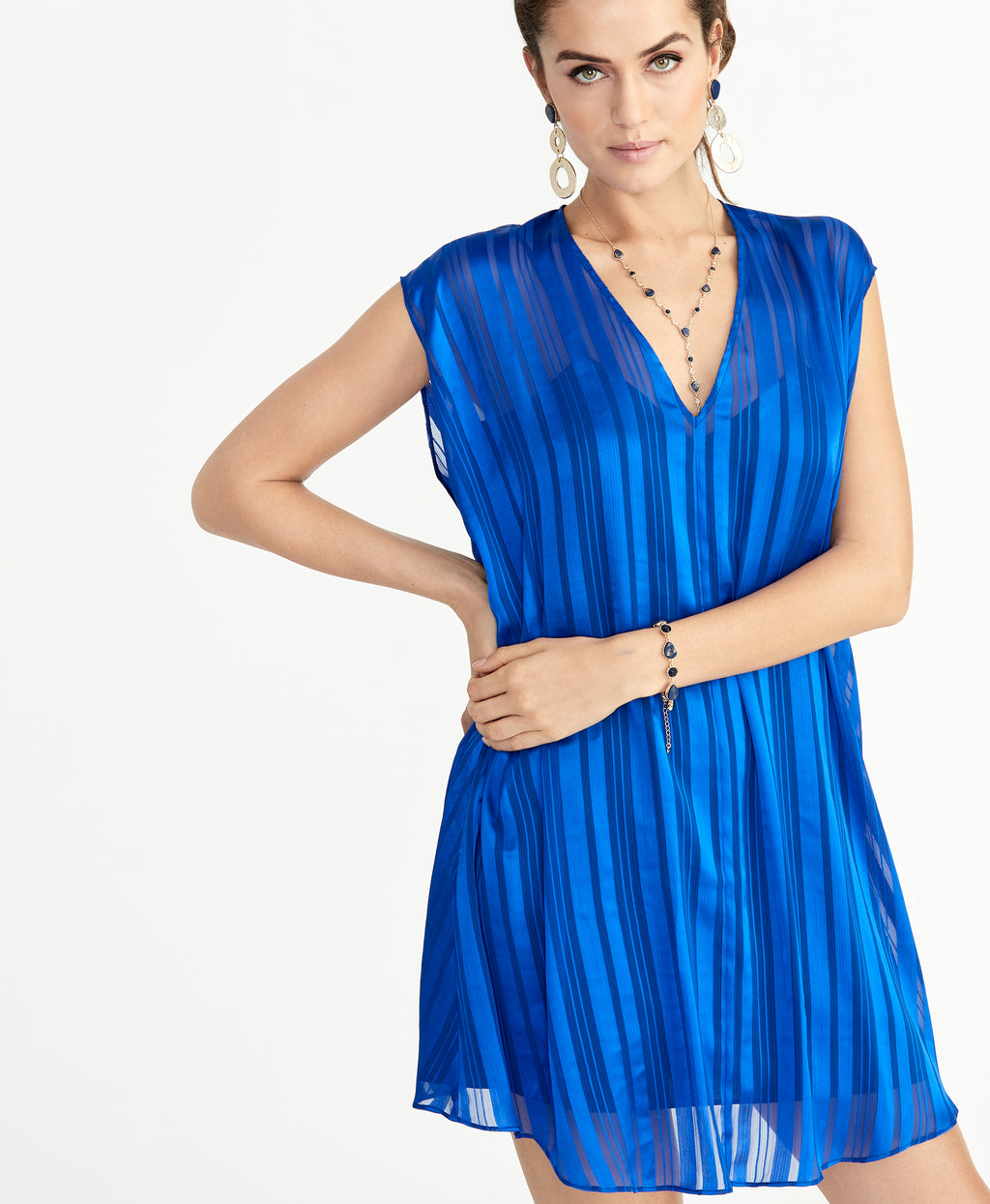 June Cape Dress | Eternal Blue
