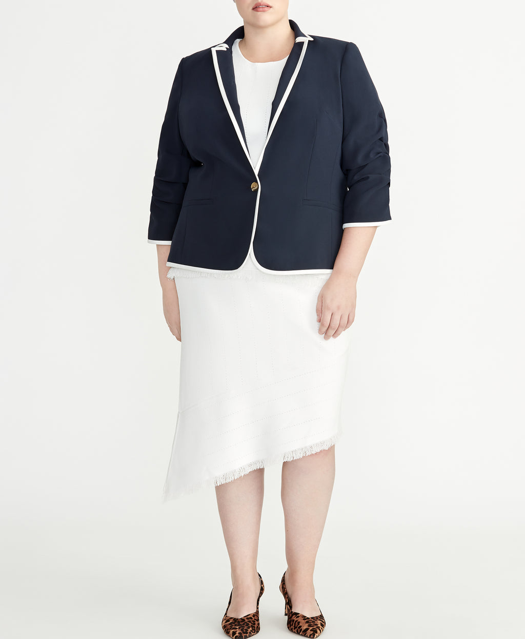 Gathered Sleeve Blazer | Gathered Sleeve Blazer