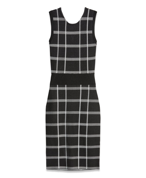 Plaid Knit Dress