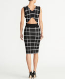 PLAID KNIT DRESS | PLAID KNIT DRESS