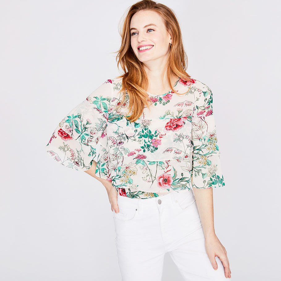 BLOSSOM TIERED TOP | BLOSSOM TIERED TOP