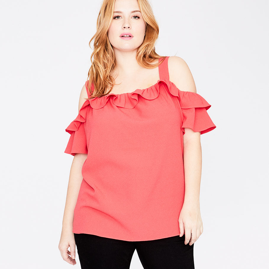 RUFFLE EDGE TOP | PARADISE