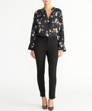 Floral Blouse | Black