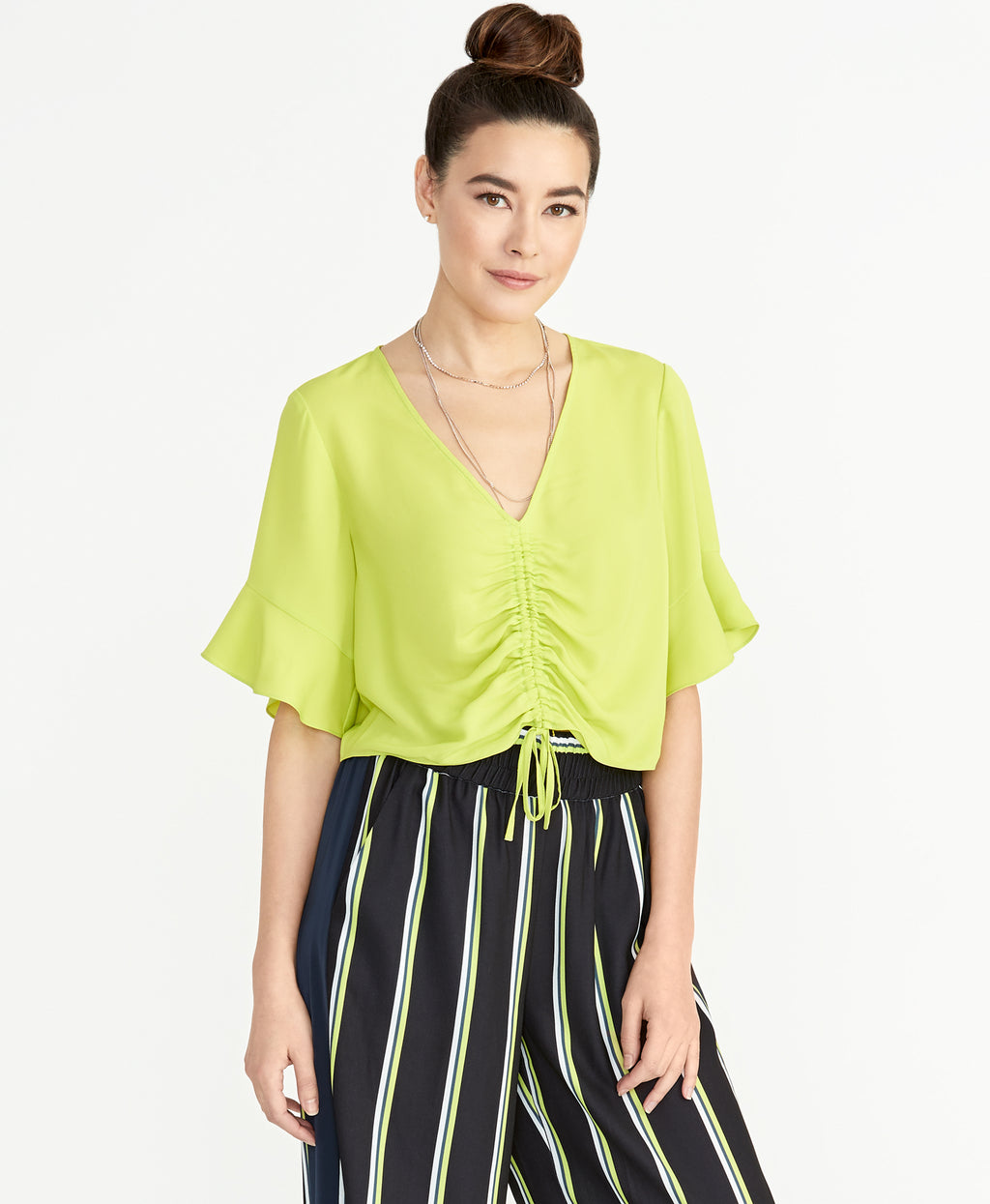 Siena  Top | Lime Green