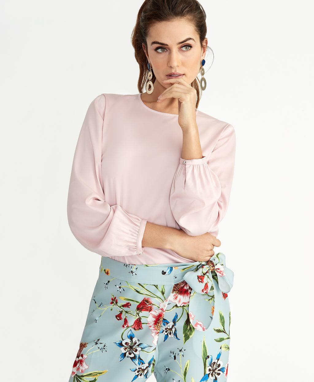 Susana Asymmetric Top | Tea Rose