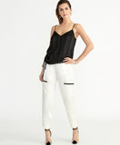 Miriam Ruched Cami | Black