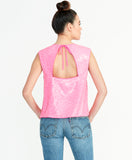 ADDIE SEQUIN TOP | NEON FLAMINGO