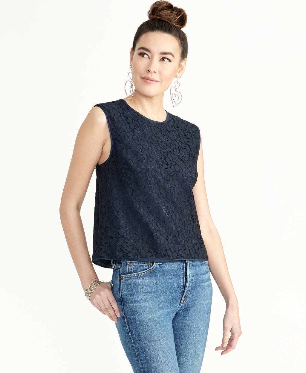 ADDIE LACE TOP | TRUE NAVY