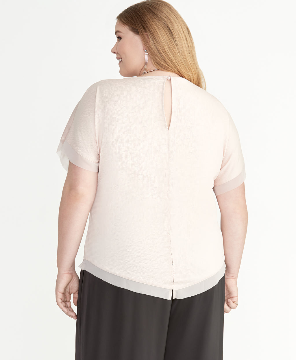 Reagan Satin Top | Blush