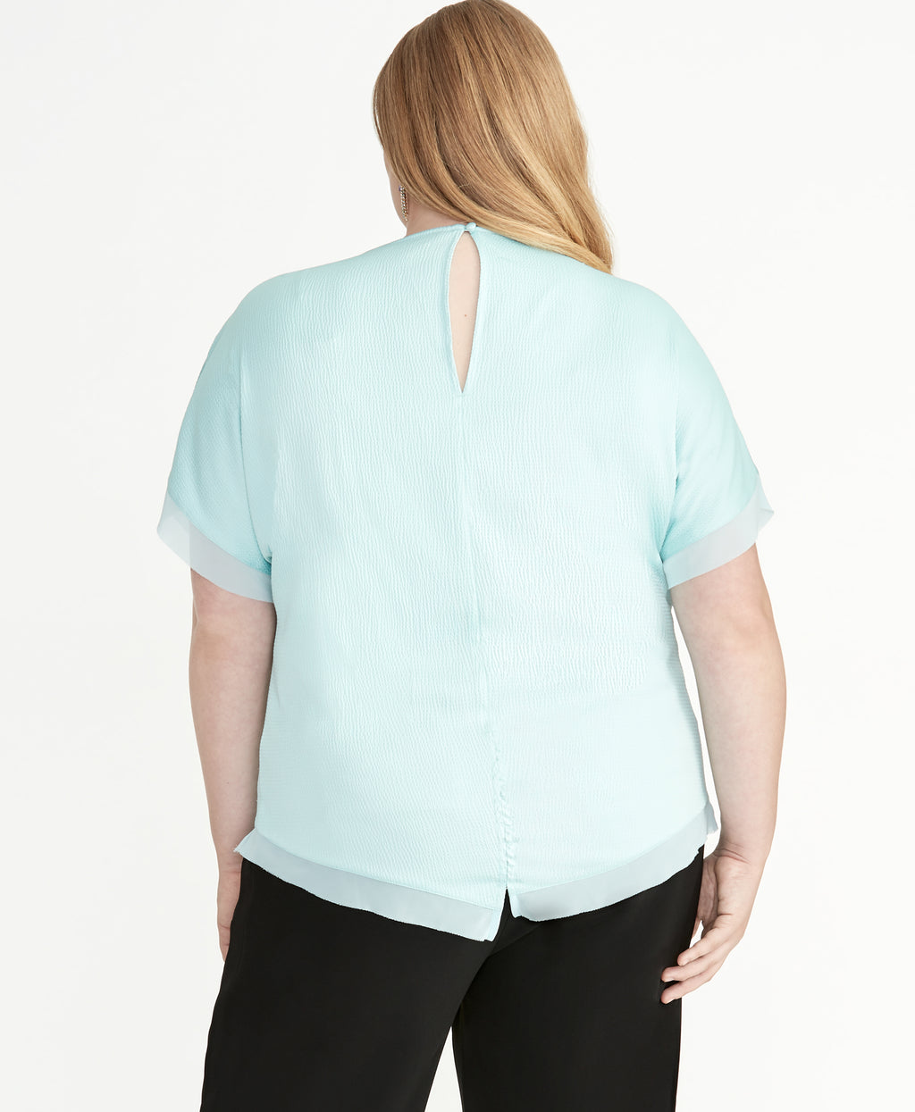 REAGAN SATIN TOP | OCEAN