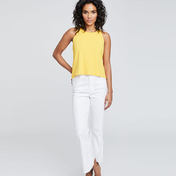 FRAYED HEM WRAP CROP