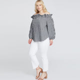 FRAYED HEM WRAP CROP | FRAYED HEM WRAP CROP