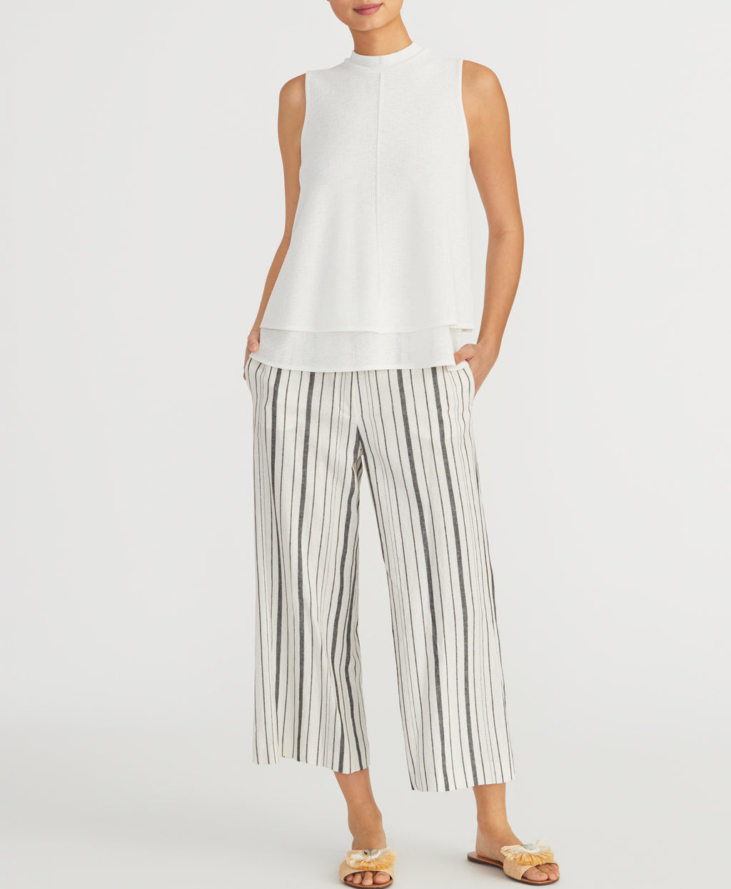 Striped Crop Pant | Striped Crop Pant