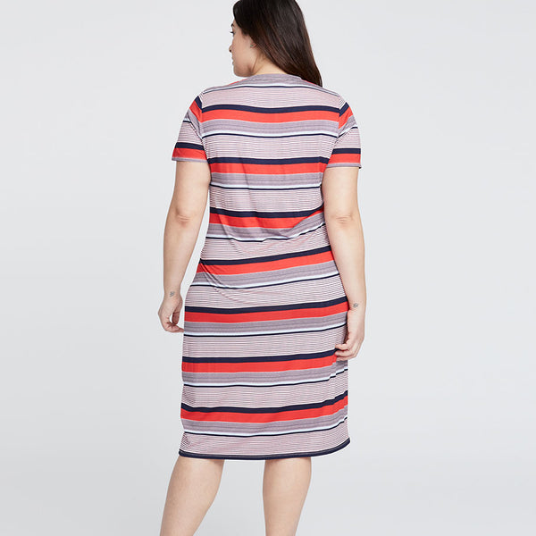 CHALK STRIPE T-SHIRT DRESS
