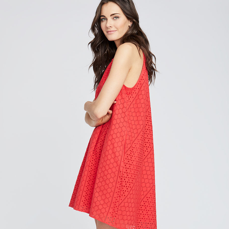 Sabine Swing Dress | RADIANT RED