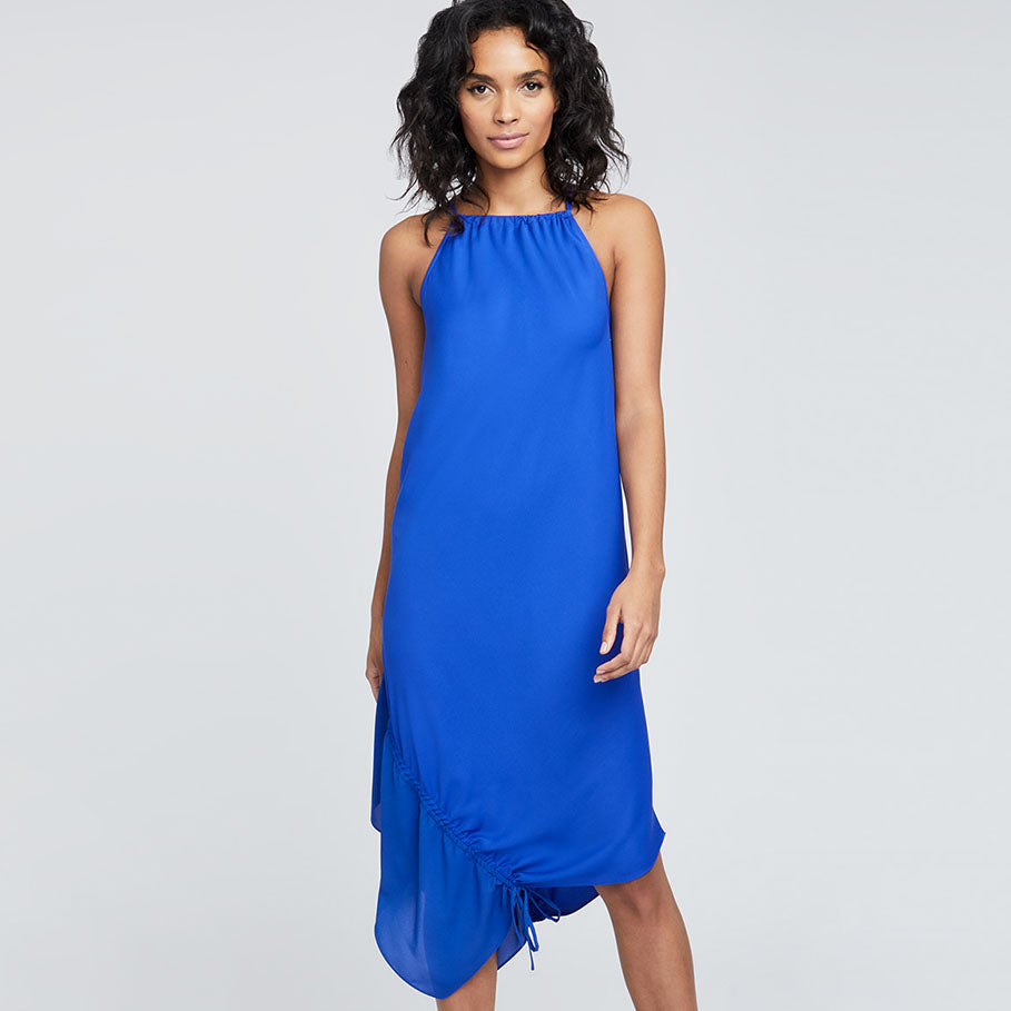 SANTORINI SCARF DRESS | SANTORINI BLUE