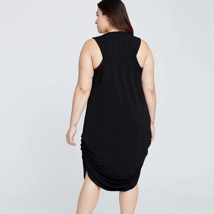TIE BACK DRESS | BLACK