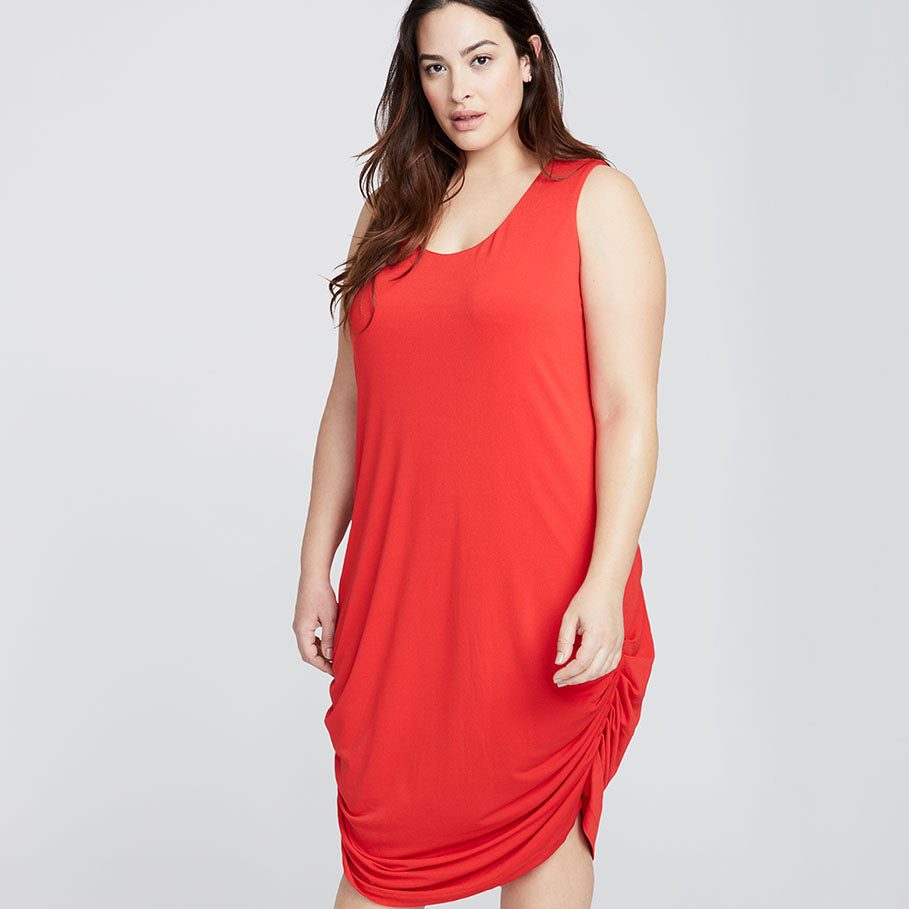 TIE BACK DRESS | RADIANT RED