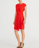 KNIT TWIST DRESS | RADIANT RED