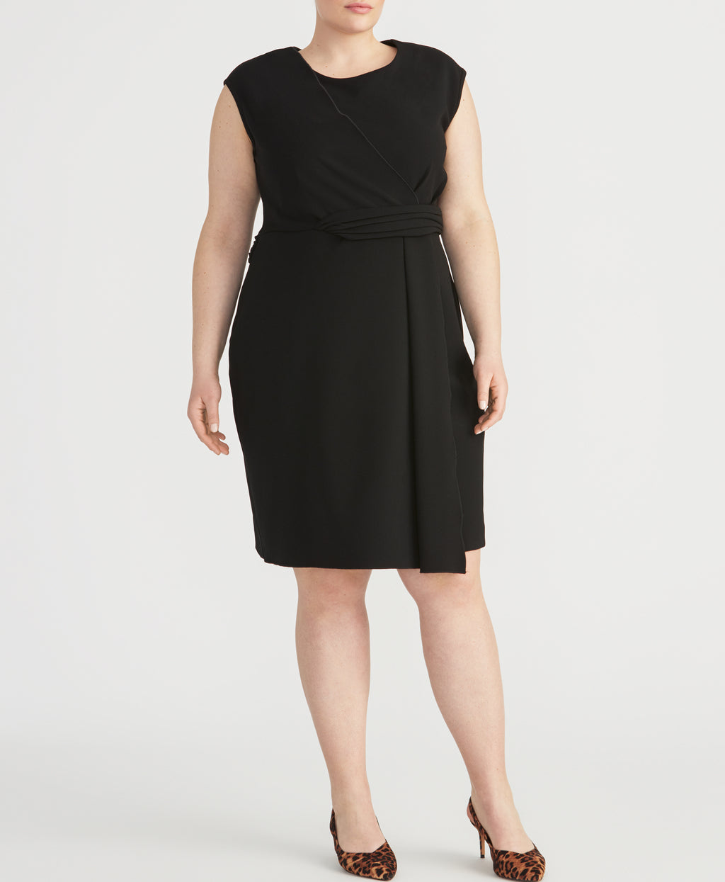 Knit Twist Dress | Black