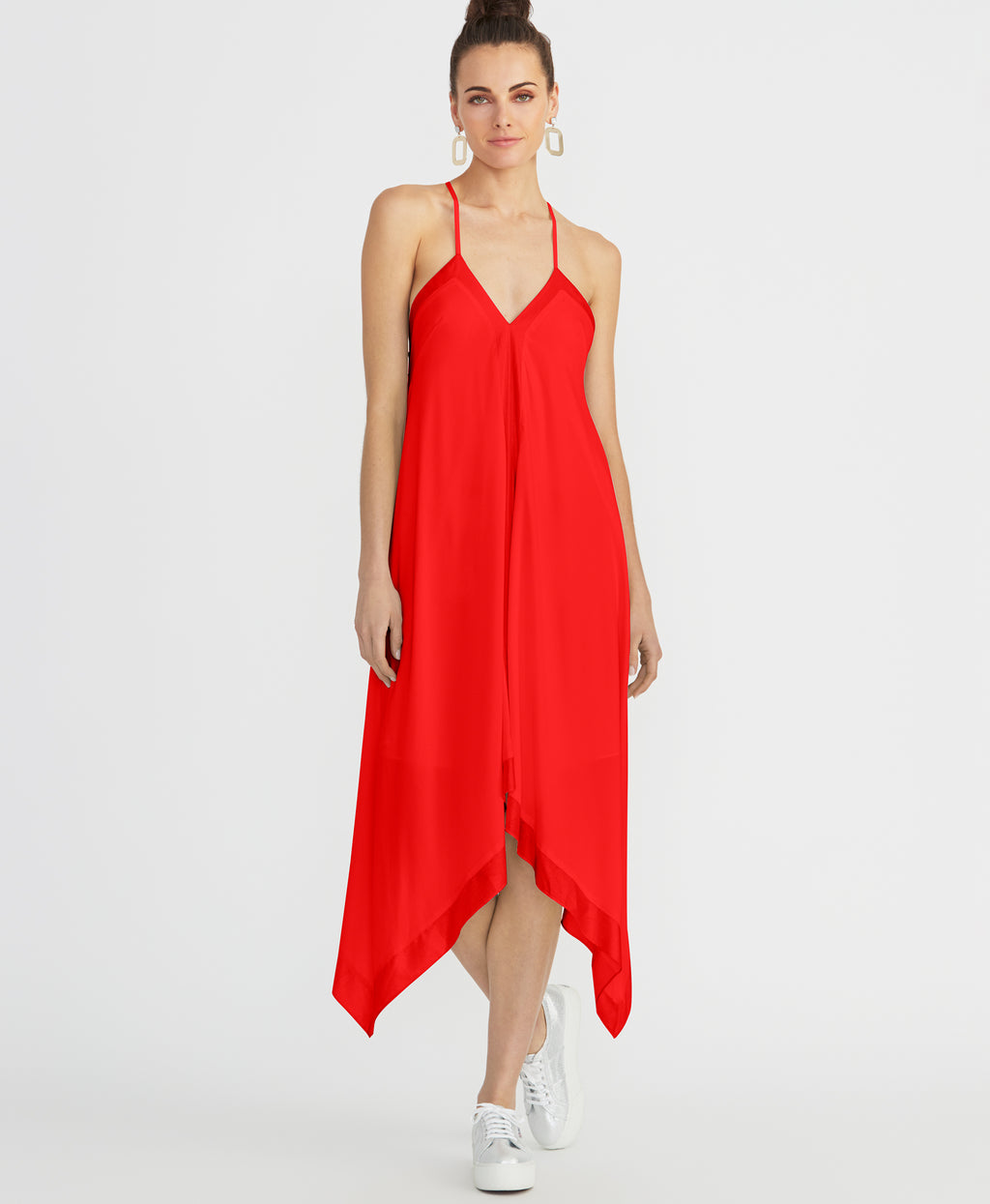 MADDELENA SCARF DRESS | RADIANT RED