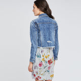 DESTRUCTED DENIM JACKET | DESTRUCTED DENIM JACKET