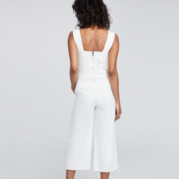 WIDE LEG CROPPED JUMPSUIT