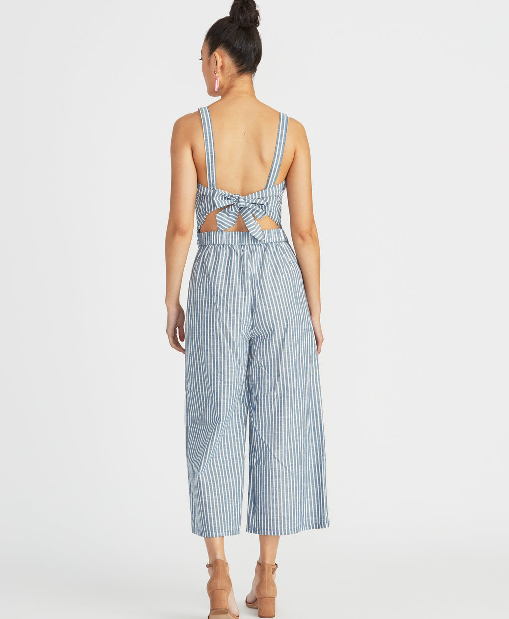 Zarita Jumpsuit | Blue White Combo