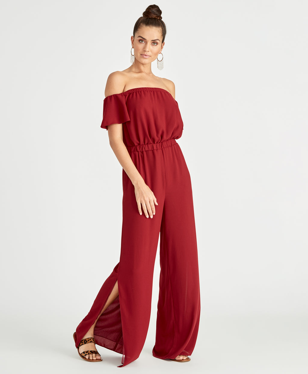 Novia Jumpsuit | Black Cherry