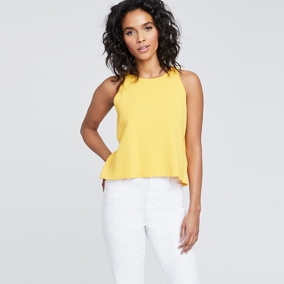 LACE BACK TOP | MARIGOLD