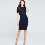TAEA DRESS | TRUE NAVY