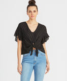 Zinnia Tie Front Top | Black