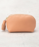 Italian Leather Rounded Travel Case | Marrakesh Pink
