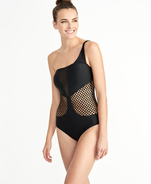 Black Mesh One Piece