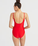 Cascading Ruffle One Piece | RED