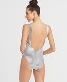 White Lines One Piece | Black/White